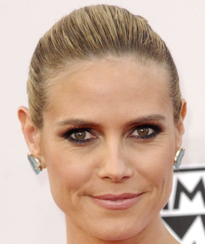 Heidi Klum at the 2014 American Music Awards held at the Nokia Theatre L.A. Live in Los Angeles on November 23, 2014