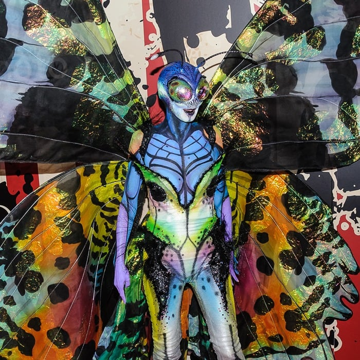 Heidi Klum's very colorful and detailed butterfly costume