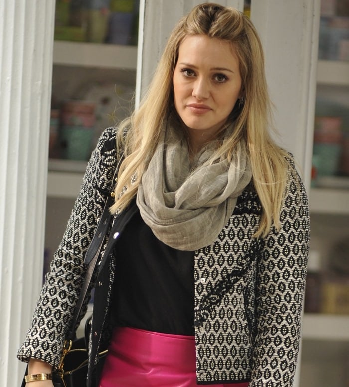 Hilary Duff on the set of her new TV series 'Younger'