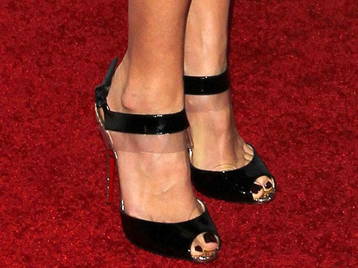 Hilary Swank Christian Louboutin Just On sandals