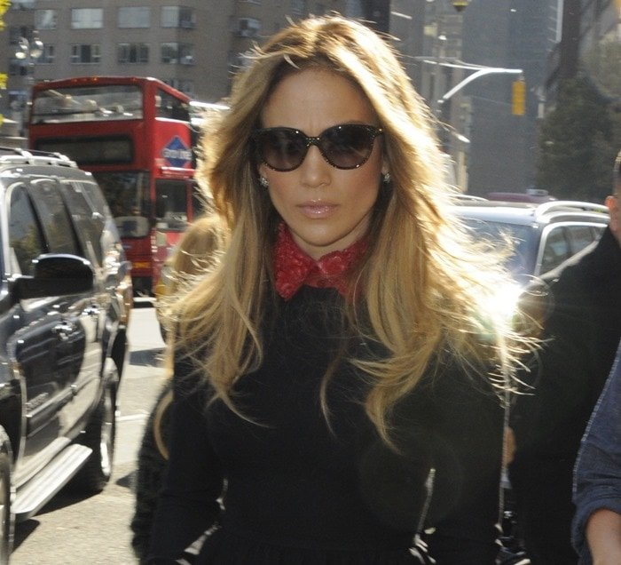 Jennifer Lopez arriving at her hotel in New York City on November 4, 2014