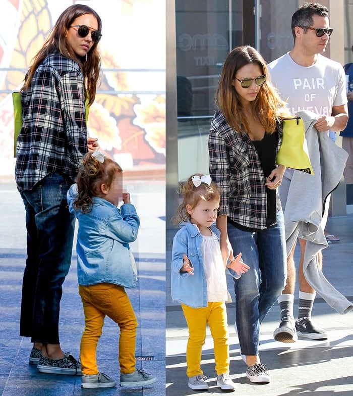 Jessica Alba Shopping with Family