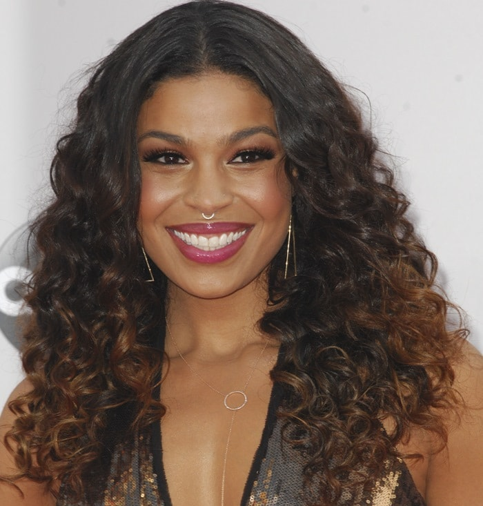 Jordin Sparks at the 2014 American Music Awards held at the Nokia Theatre L.A. Live in Los Angeles on November 23, 2014