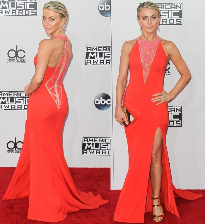 """Julianne Hough accessorized with Jacqui Aiche jewelry and a Hysteric Co. pavé """"V Vendetta"""" ring"""