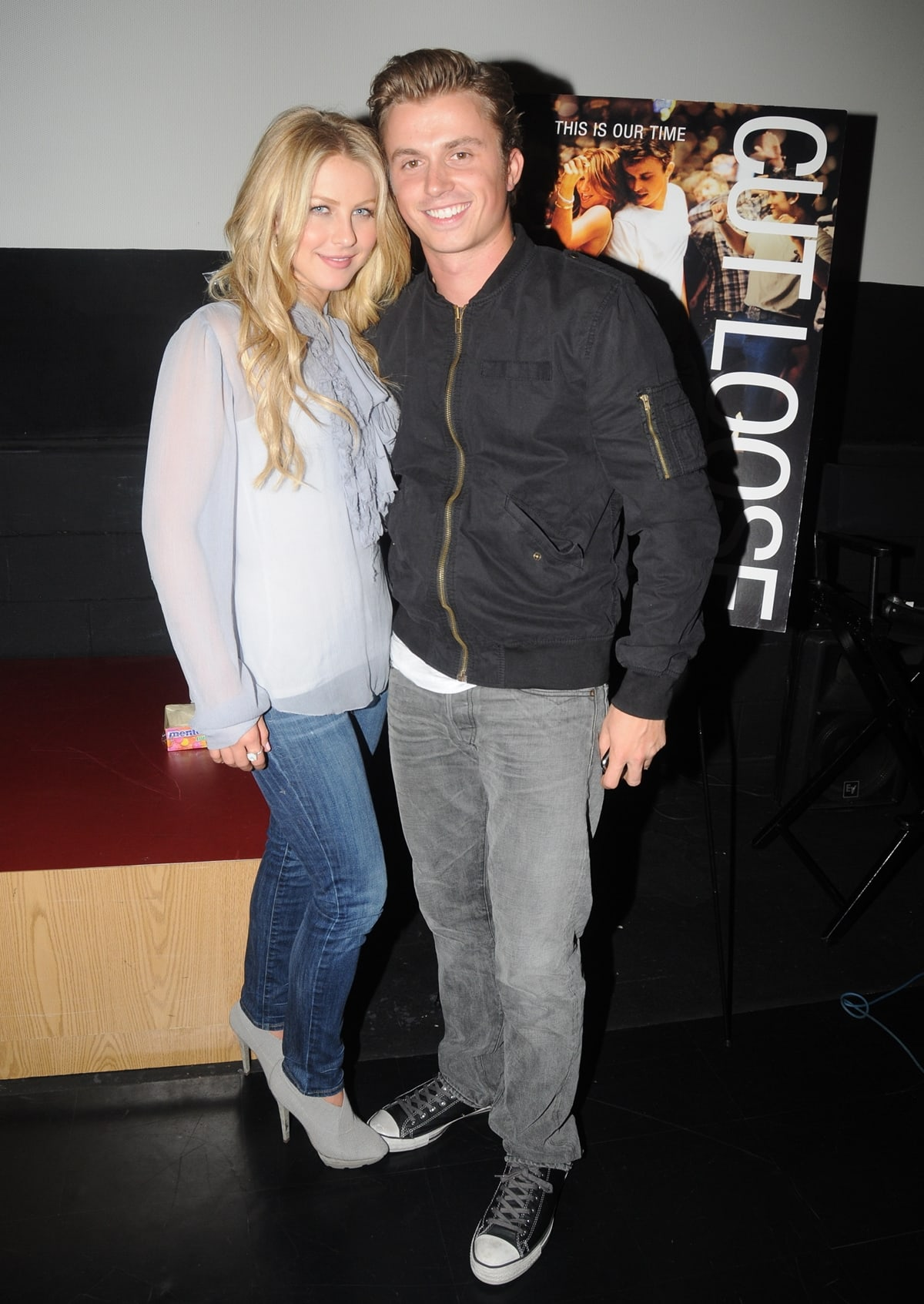 Julianne Hough and Kenny Wormald attend a 'Footloose' screening at the Ritz East Theater in Philadelphia