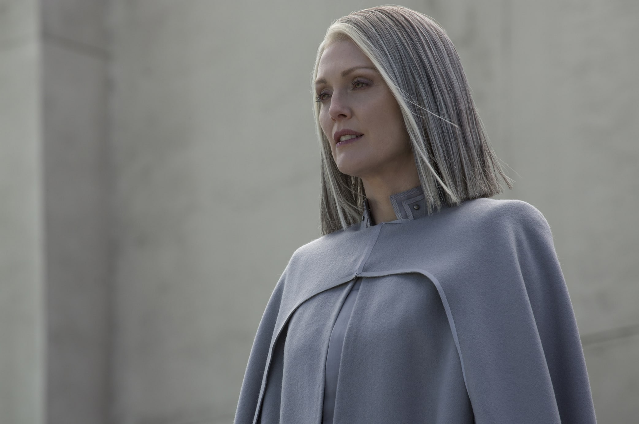 Julianne Moore as President Alma Coin in The Hunger Games