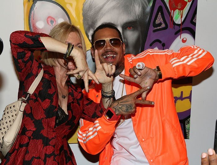 Chris Brown at the Andy Goes Street show at Bruce Lurie Gallery in Los Angeles on November 15, 2014 - posted on Instagram on November 16, 2014
