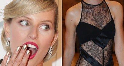 What would Marilyn say! Karolina Kurkova flashes a bit too