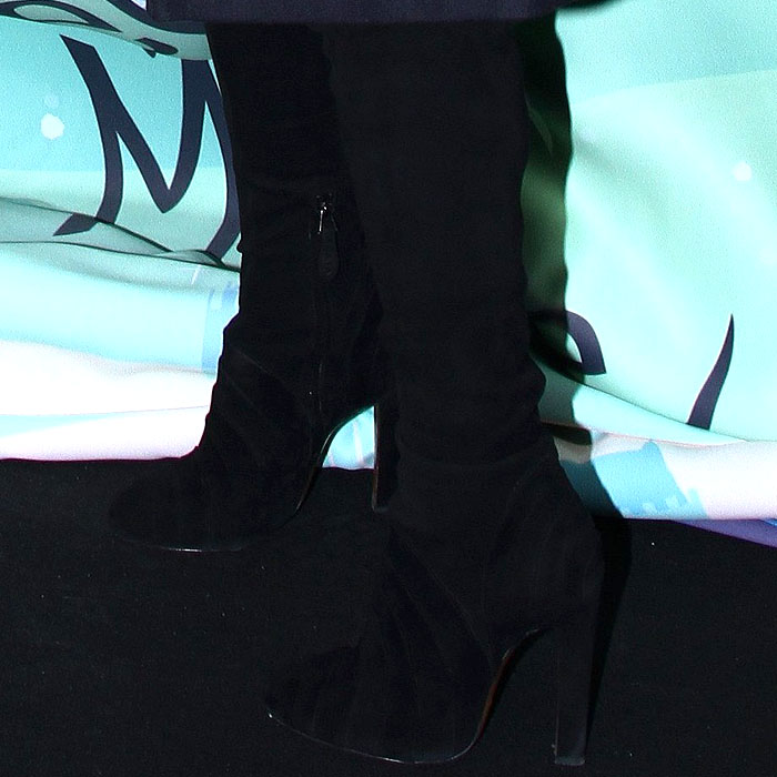 Kate Moss Alaia suede thigh boots 1