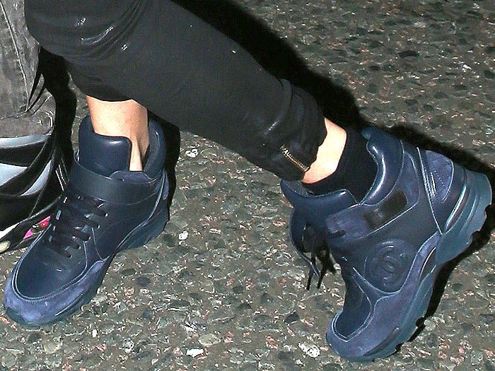 Kate Moss blue Chanel sneakers