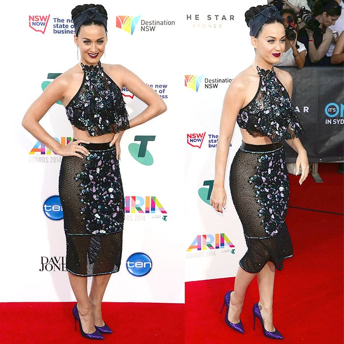 Katy Perry at the 2014 ARIA Awards held at TheStar Sydney Casino & Hotel in Sydney, Australia, on November 26, 2014