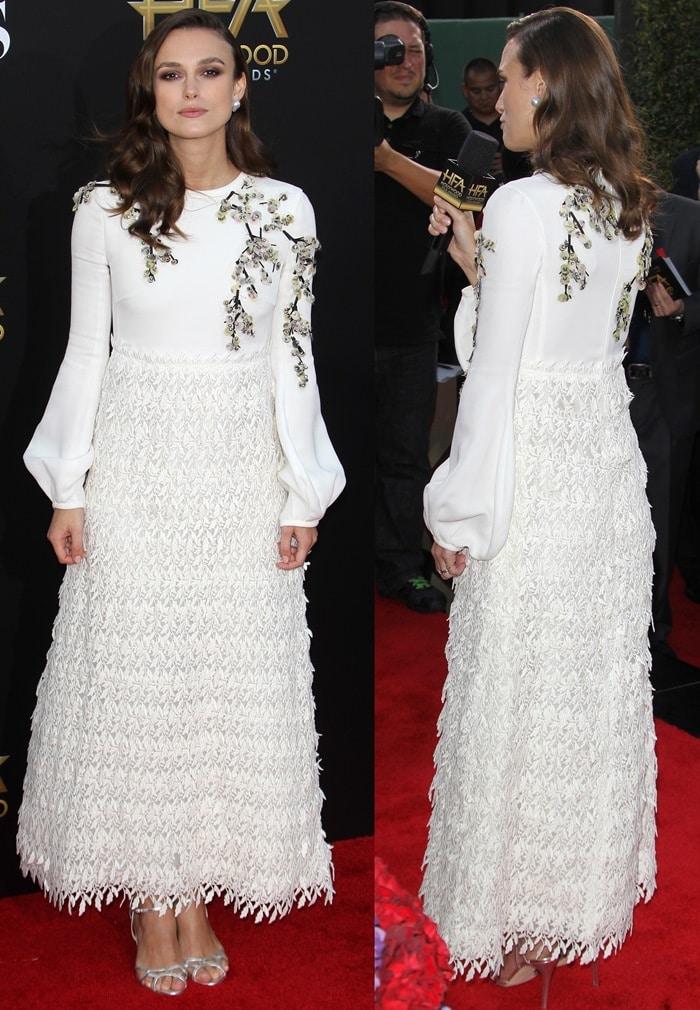 Keira Knightley ina stunning dress from the Giambattista Valli Spring 2015 collection