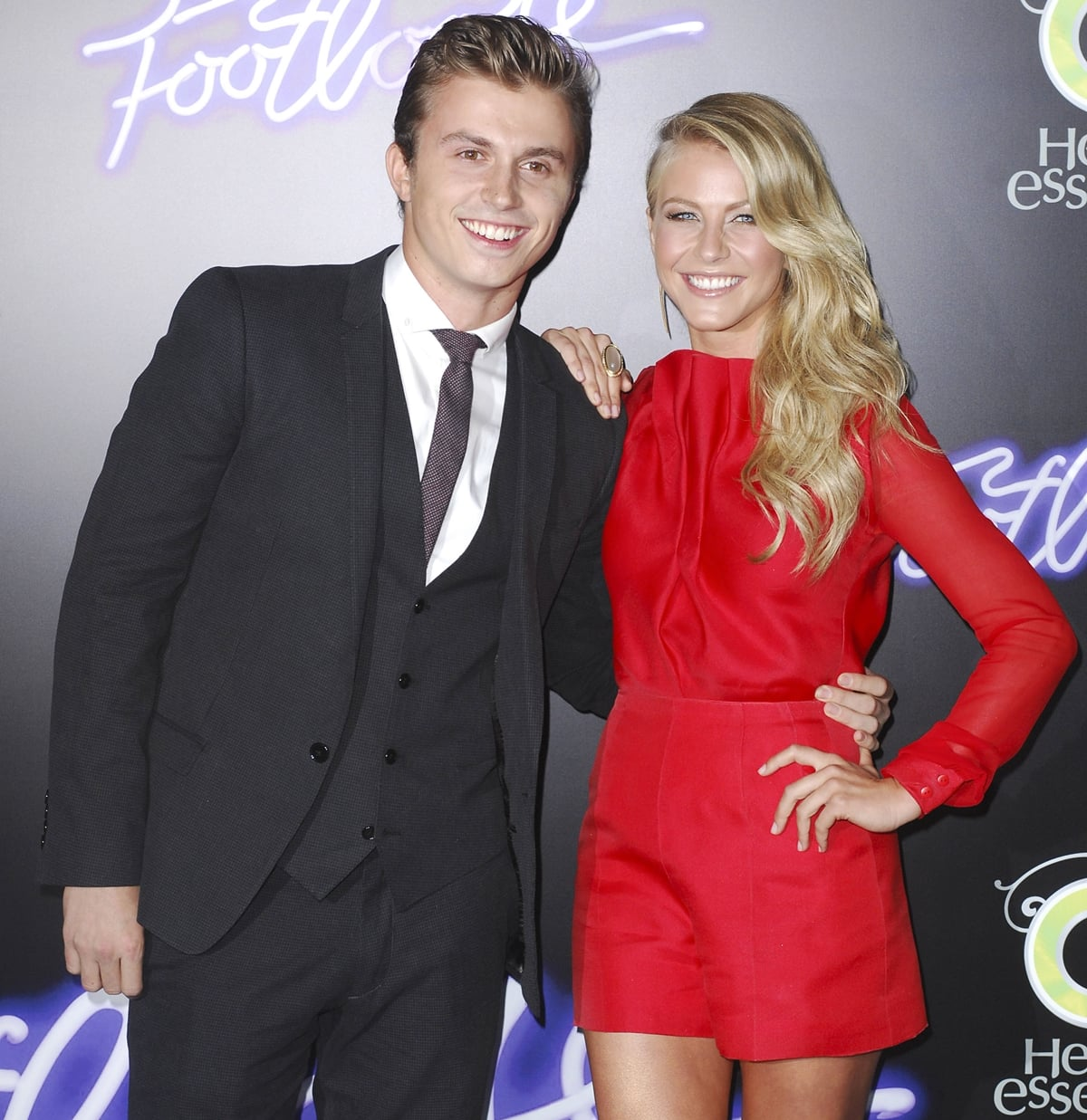 """Actor Kenny Wormald and actress Julianne Hough arrive at the Los Angeles Premiere """"Footloose"""""""
