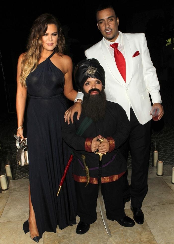 Khloé Kardashian and French Montana at his birthday celebration