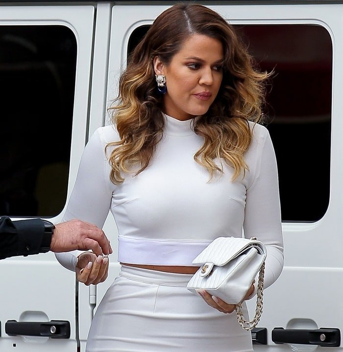 Khloe Kardashian in Crop Top