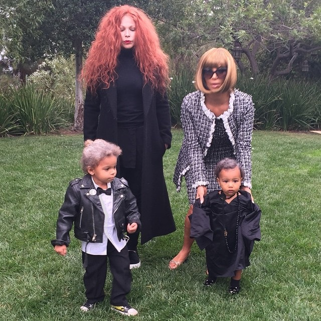 "Shared by Kim Kardashian on Instagram with the caption ""Karl, Grace, Anna, Andre"" on November 1, 2014"