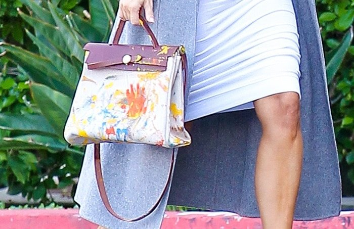 Kim Kardashian's hand-painted Hermes bag that her daughter, North, gave her for her birthday last month