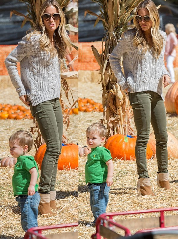 Kristin Cavallari takes her adorable son Camden to Mr. Bones Pumpkin Patch in Los Angeles on October 6, 2013