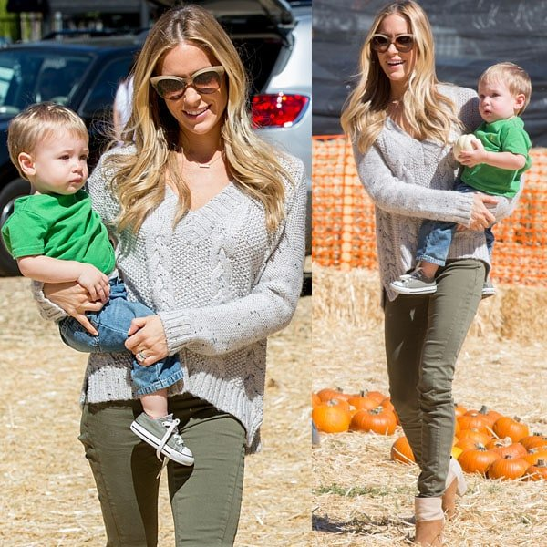 Kristin Cavallari takes her adorable little boy Camden to his first pumpkin patch ever
