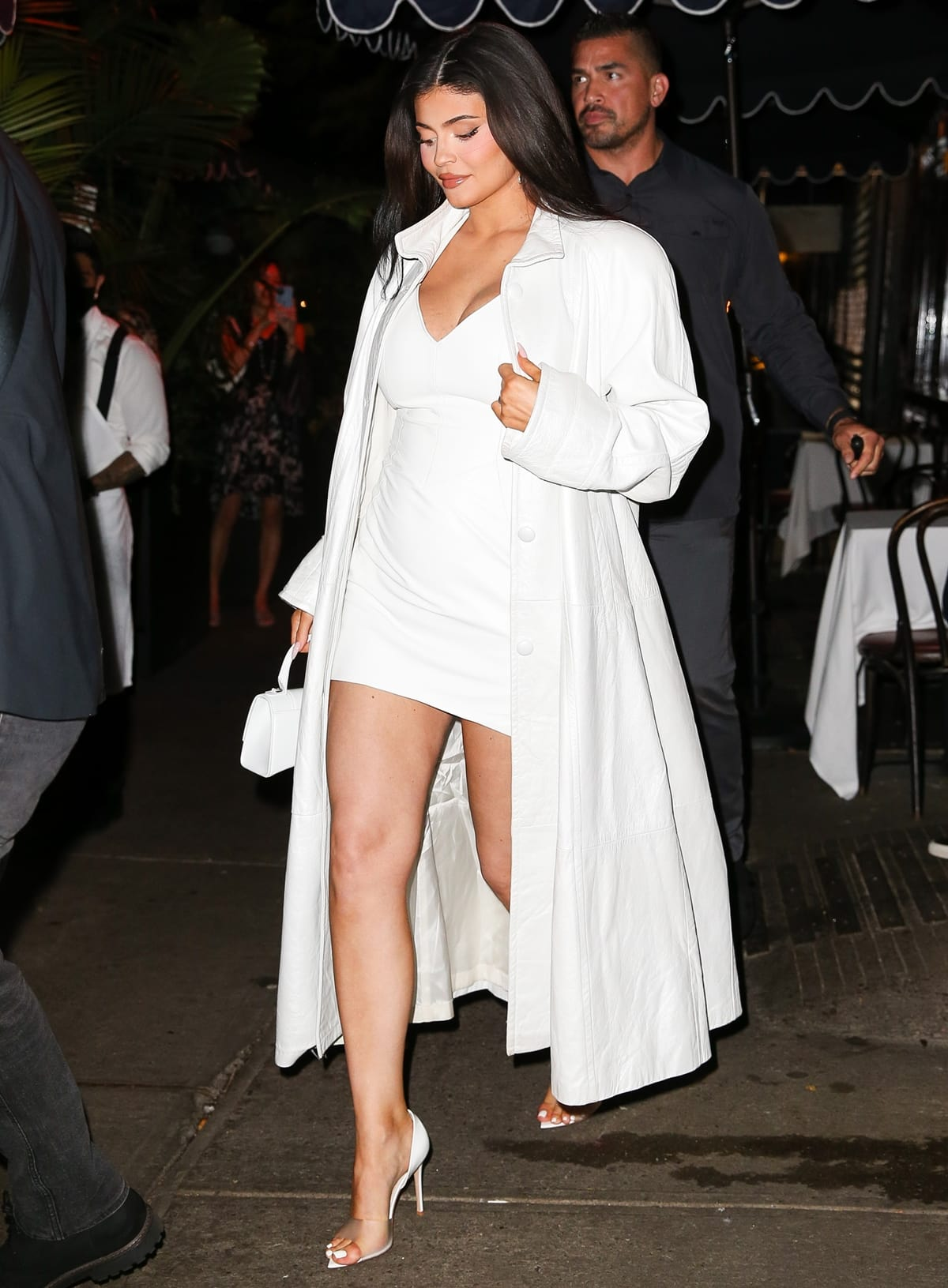Pregnant Kylie Jenner leaves Carbone, an Italian-American restaurant located in Greenwich Village, New York City