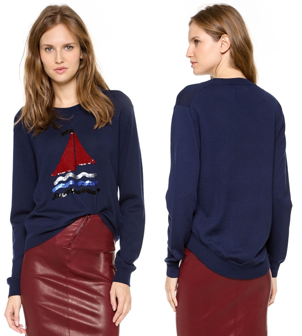 Markus Lupfer Sequin Sailboat Sweater