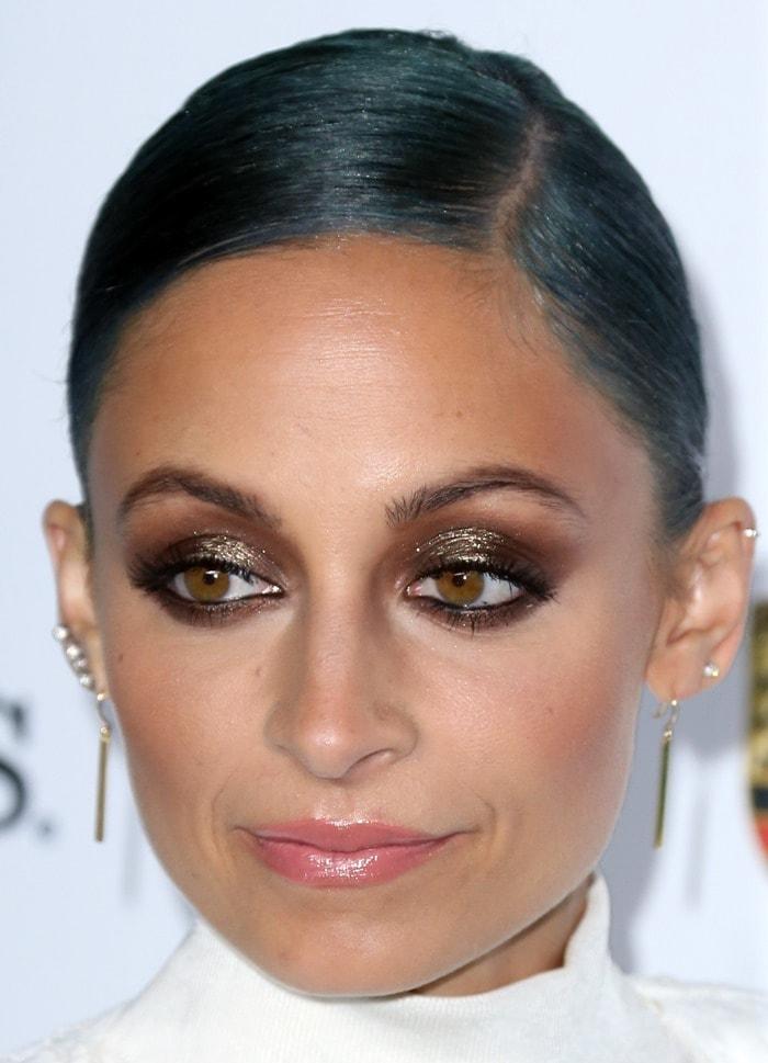 Nicole Richieaccessorized with Jennifer Meyer earrings