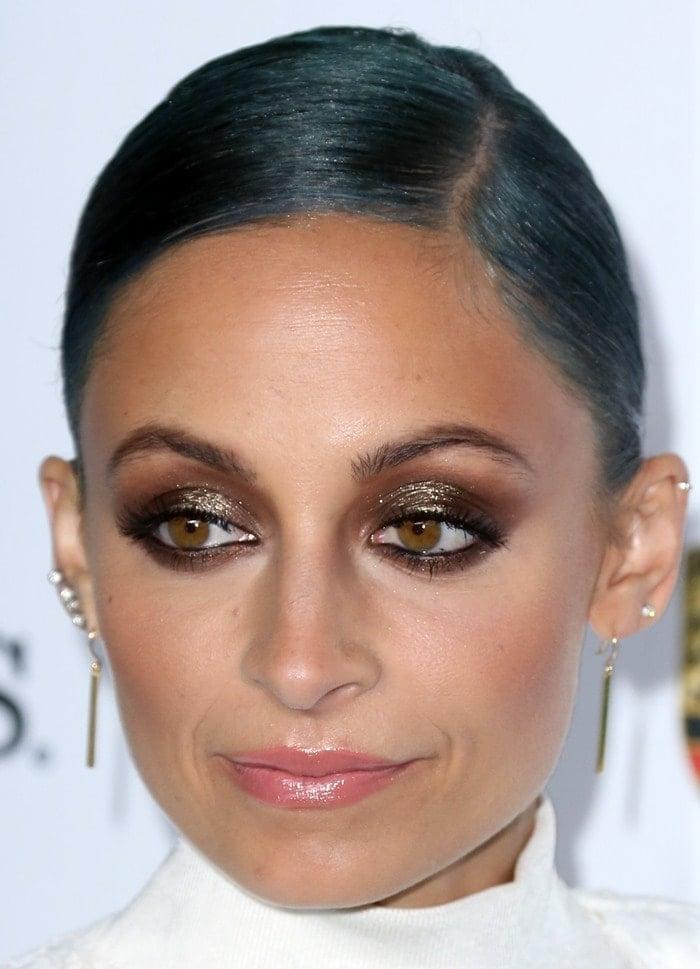 Nicole Richie accessorized with Jennifer Meyer earrings