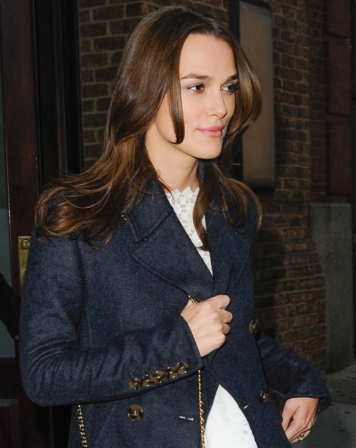Possibly pregnant Keira Knightley leaving her hotel in New York City on November 19, 2014