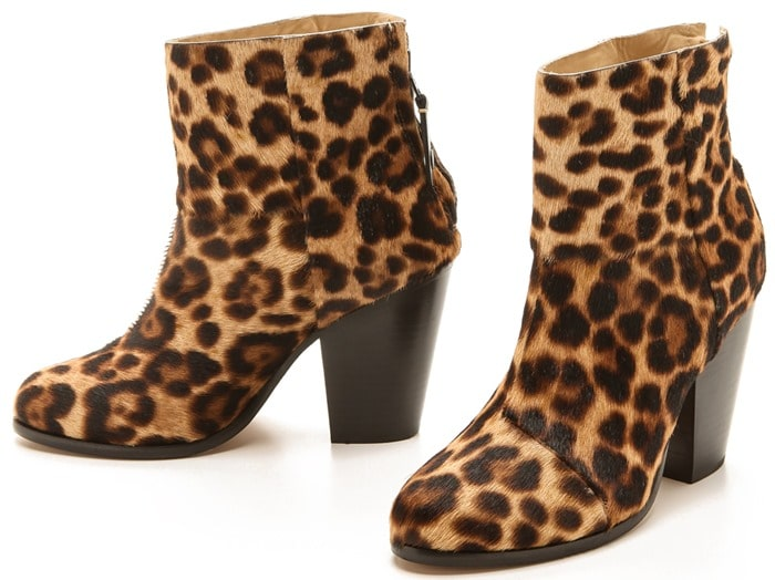 Rag & Bone Brown Classic Newbury Booties - Leopard
