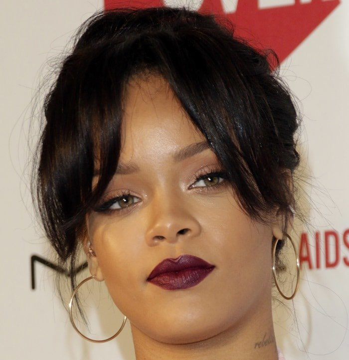 Rihanna at MAC Cosmetics & MAC AIDS Fund's premiere of 'It's Not Over'
