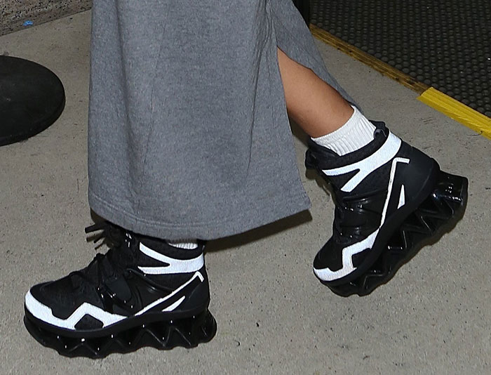 Rihanna wearing Marc by Marc Jacobs sneakers