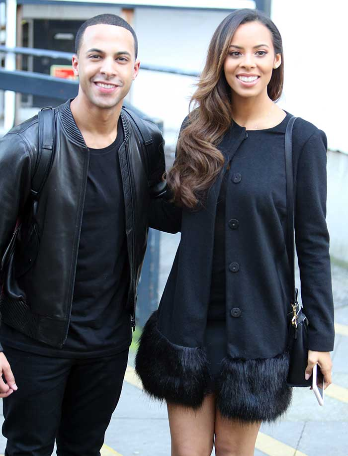 Rochelle Humes and Marvin Humes outside the ITV Studios