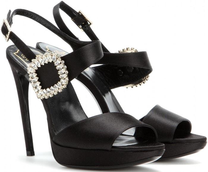 Roger Vivier Embellished Platform Sandals