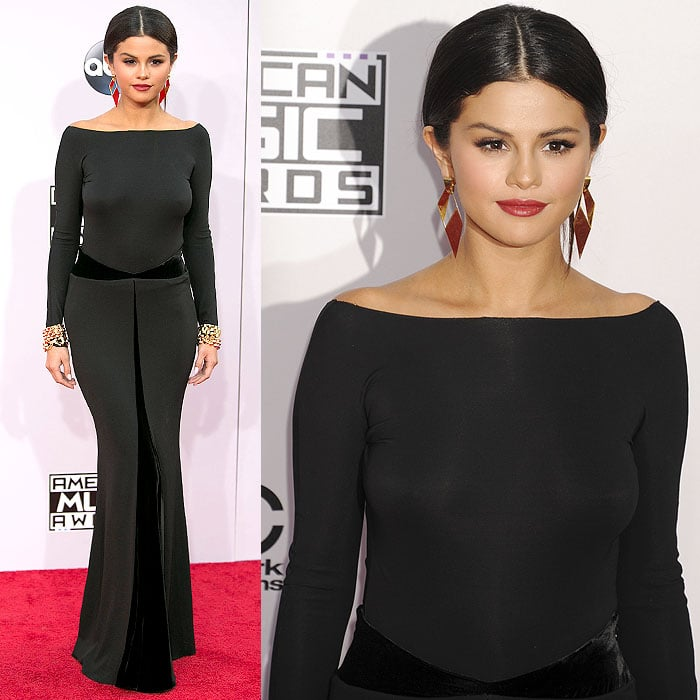 Selena Gomez looked very serious at the 2014 American Music Awards