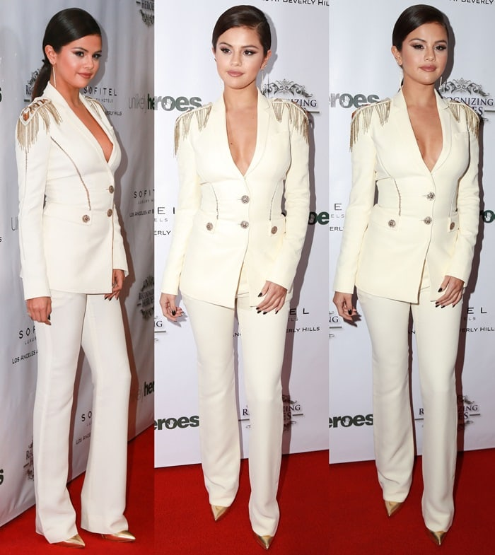 Selena Gomez at the 2014 Unlikely Heroes Awards Dinner and Gala held at the Sofitel Hotel in Los Angeles on November 8, 2014
