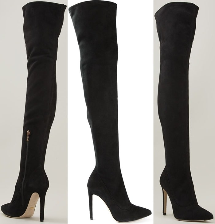 Sergio Rossi Slim-Fit Thigh-High Boots