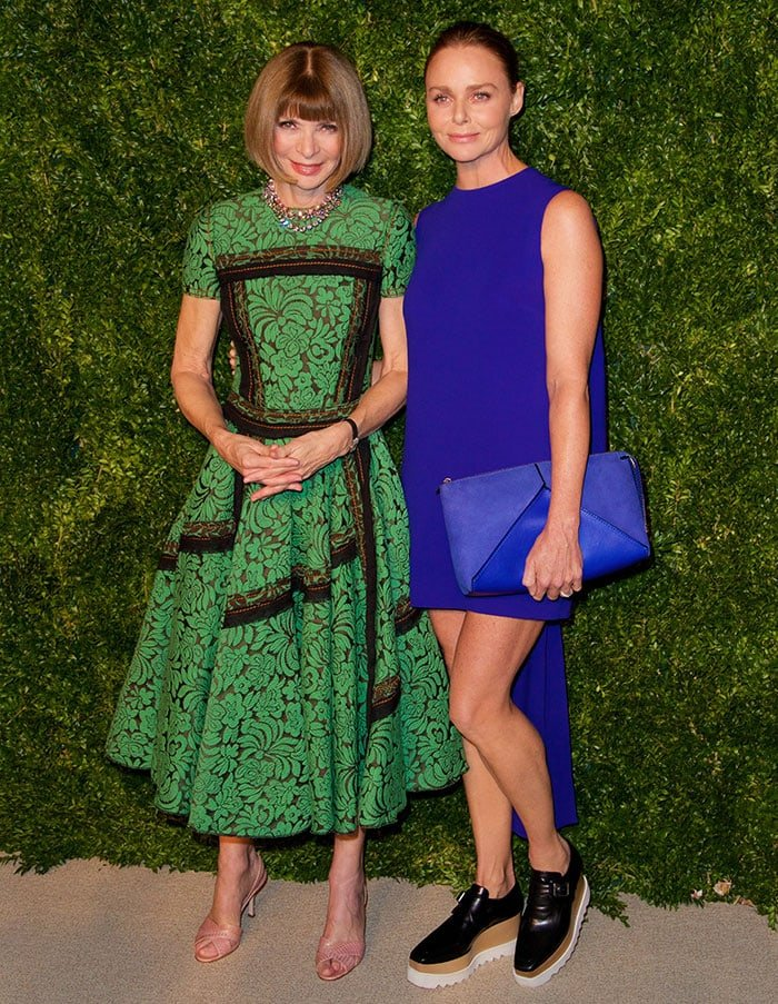 Stella McCartney with Anna Wintour at the CFDA/Vogue Fashion Fund Awards in New York City on November 3, 2014