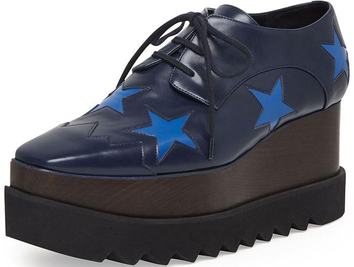 Stella McCartney Faux-Leather Star Platform Oxfords