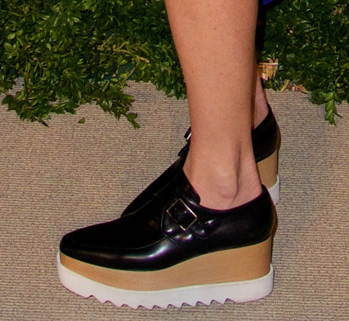 Stella McCartney wearing Stella McCartney platform oxfords
