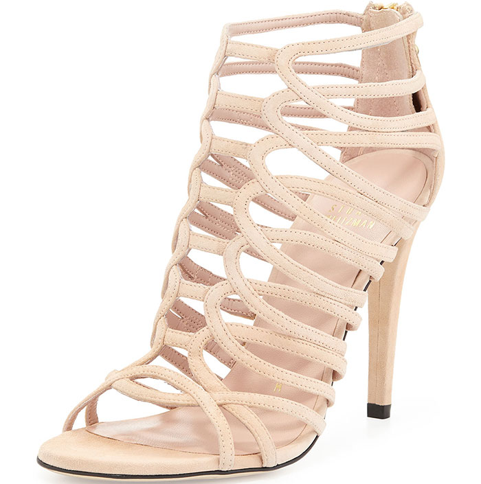 Stuart Weitzman Loops Strappy Cage Sandals