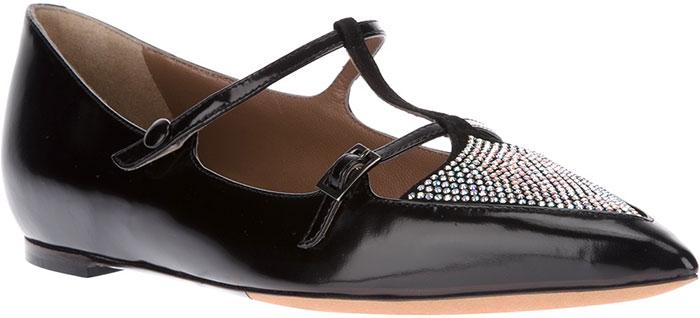 Tabitha-Simmons-Black-Heart-Embellished-Ballet-Flats