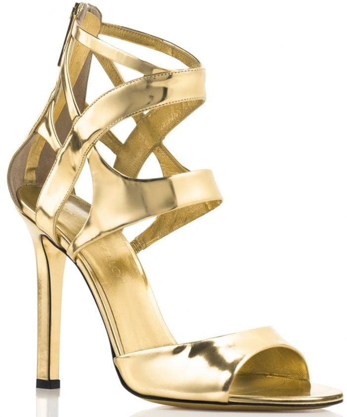 Tamara Mellon Fatale Specchio 105 mm in Gold