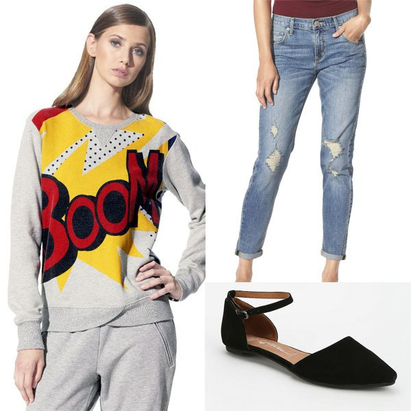Outfit with 3.1 Phillip Lim for Target Boom print sweater