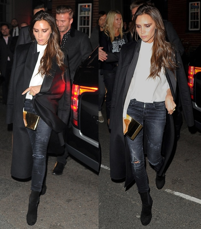 Victoria Beckham at the Another Man party at Mark's Club in Mayfair, London, England, on November 20, 2014