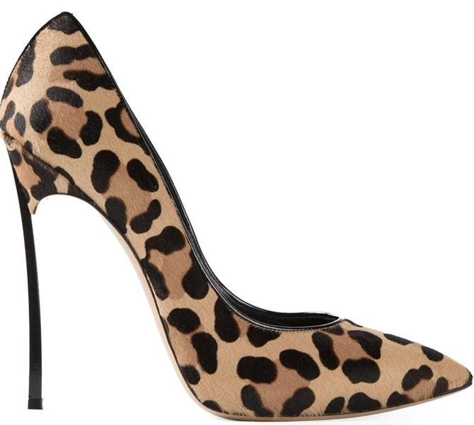 Casadei Blade-Heel Pumps in Leopard Calf Hair