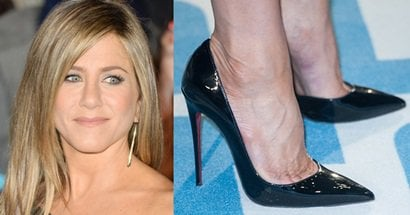368ae86d3d49 ... greece jennifer aniston in antonio berardi dress and christian  louboutin pumps 308a9 33e37