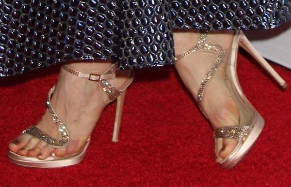 jessica chastain afi 2014 shoe2