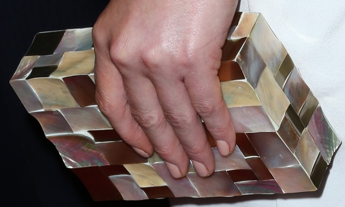 Kate's mother-of-pearl clutch