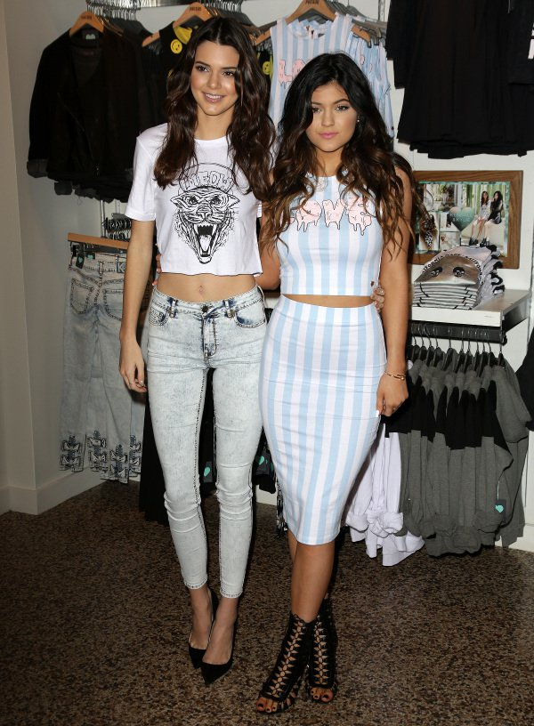 Kendall and Kylie Jenner launch PacSun's holiday collection in Glendale on Nov. 9, 2013