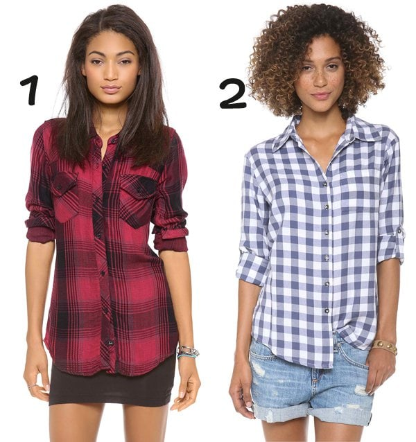 ONE by RAILS Kendra Button Down Shirt and SUNDRY Checkered Button Up Shirt